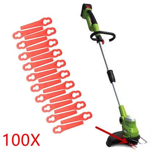 100 Kunststoffmesser Ersatzmesser Messer //Nylon passt für Akku Rasentrimmer SW