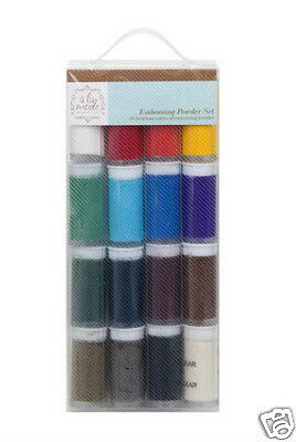 a la mode EMBOSSING POWDER SET 16 JARS BASICS / BRIGHTS Hampton Art