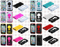 For Apple Ipod Touch 4 4th Gen Rubber Impact Alien Hybrid Skin Phone Case Cover