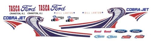 1//24th Scale Decals Bill Lawton TASCA FORD 2013 MUSTANG COBRA JET NHRA 1//25th