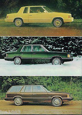 Se,custom,station Wagon, 1981 Dodge Aries K Car Brochure With Color Chart Automobilia
