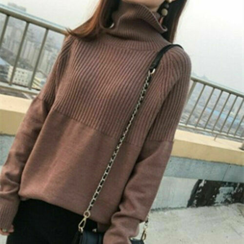 Pullovers Solid Female Turtleneck Warm Sweater Knitting Cashmere Women