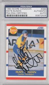 Mats-Sundin-Quebec-Nordiques-1990-Score-Canadian-Signed-AUTOGRAPH-PSA-DNA