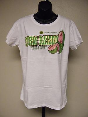 NEW-minor-flaw FARM RAISED John Deere  womens SIZE L LARGE T-Shirt 76KW