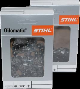 2 STIHL Sägeketten 3//8P-50E-1,3 Picco Micro 3 PM3 50TG für Stihl MS 200 201 241
