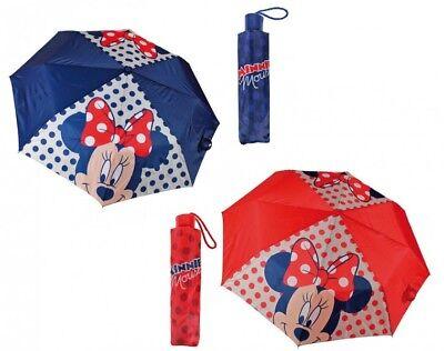 Minnie Mouse Mouse Ombrello Ø 99cm Bambini Ombrello Ragazze Ragazzi Girls Blu Rosso-mostra Il Titolo Originale Buona Conservazione Del Calore