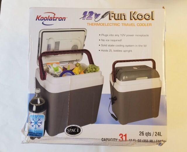 Koolatron P25 26-Quart FunKool Cooler Dark Grey