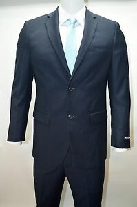 Men's Navy Blue 2 Button Modern Fit Suit SIZE 38S NEW