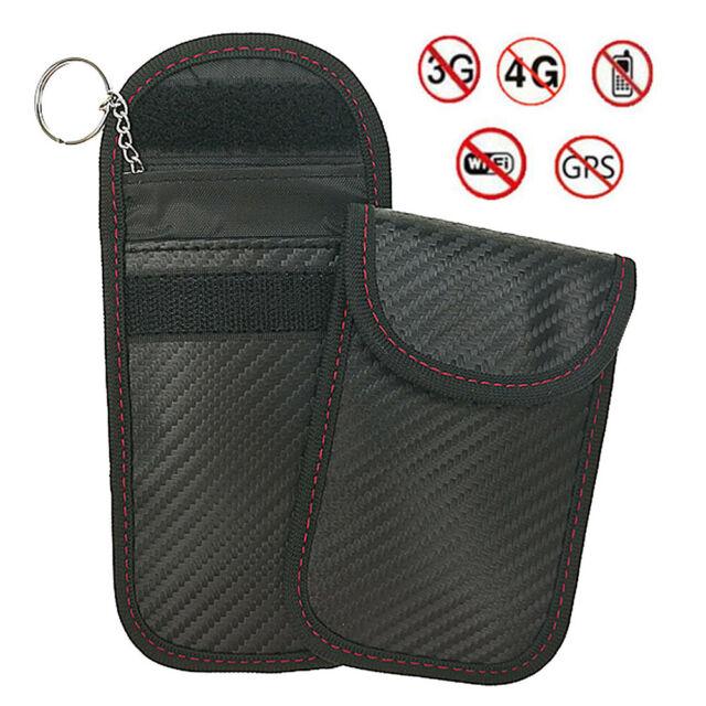 1pc Anti-theft Car Key Fob RFID Signal Blocker Faraday Signal Blocking Pouch Bag