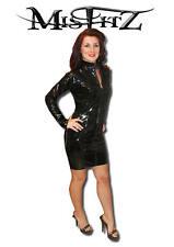 Misfitz black pvc zip mistress dress  sizes uk 8-32/ eu 36-60 or made to measure
