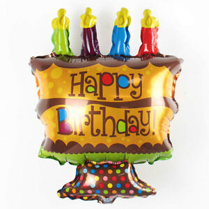 Fabulous Aluminum Foil Balloon Inflatable Balloons Happy Birthday Cake Personalised Birthday Cards Veneteletsinfo