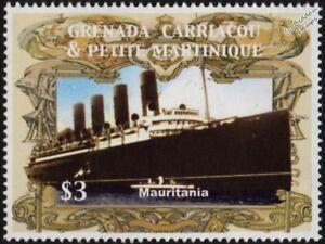 Dynamique Rms Mauretanie (1906) Ligne Cunard Cruise/ocean Liner Navire Cachet (2005 Grenade)-afficher Le Titre D'origine