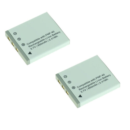 2 baterías compatible con Fuji np-40