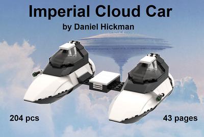 instruction manual only *custom* Lego Star Wars Imperial Cloud Car
