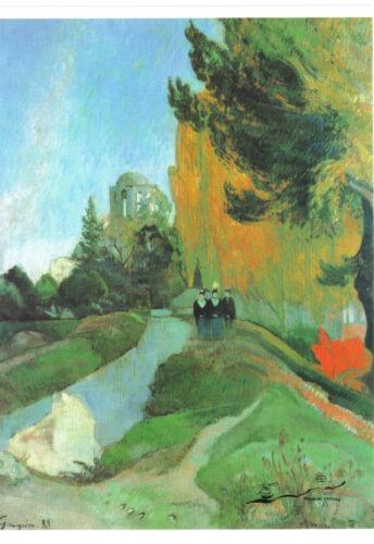 Die Alyscamps Paul Gauguin Postkarte Postcard Art