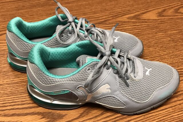 9bf54fd58eba88 Frequently bought together. Puma 187351 09 Cell Riaze Heather Gray Aqua  Green Women s Athletic Shoe ...