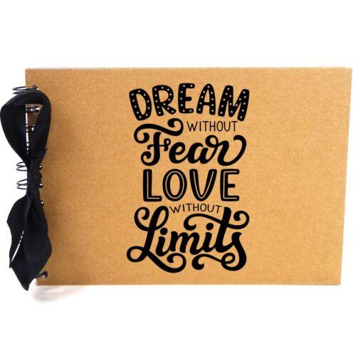 Ribbon Scrapbook Photo Album A5 Dream Fear Love Blank White Pages