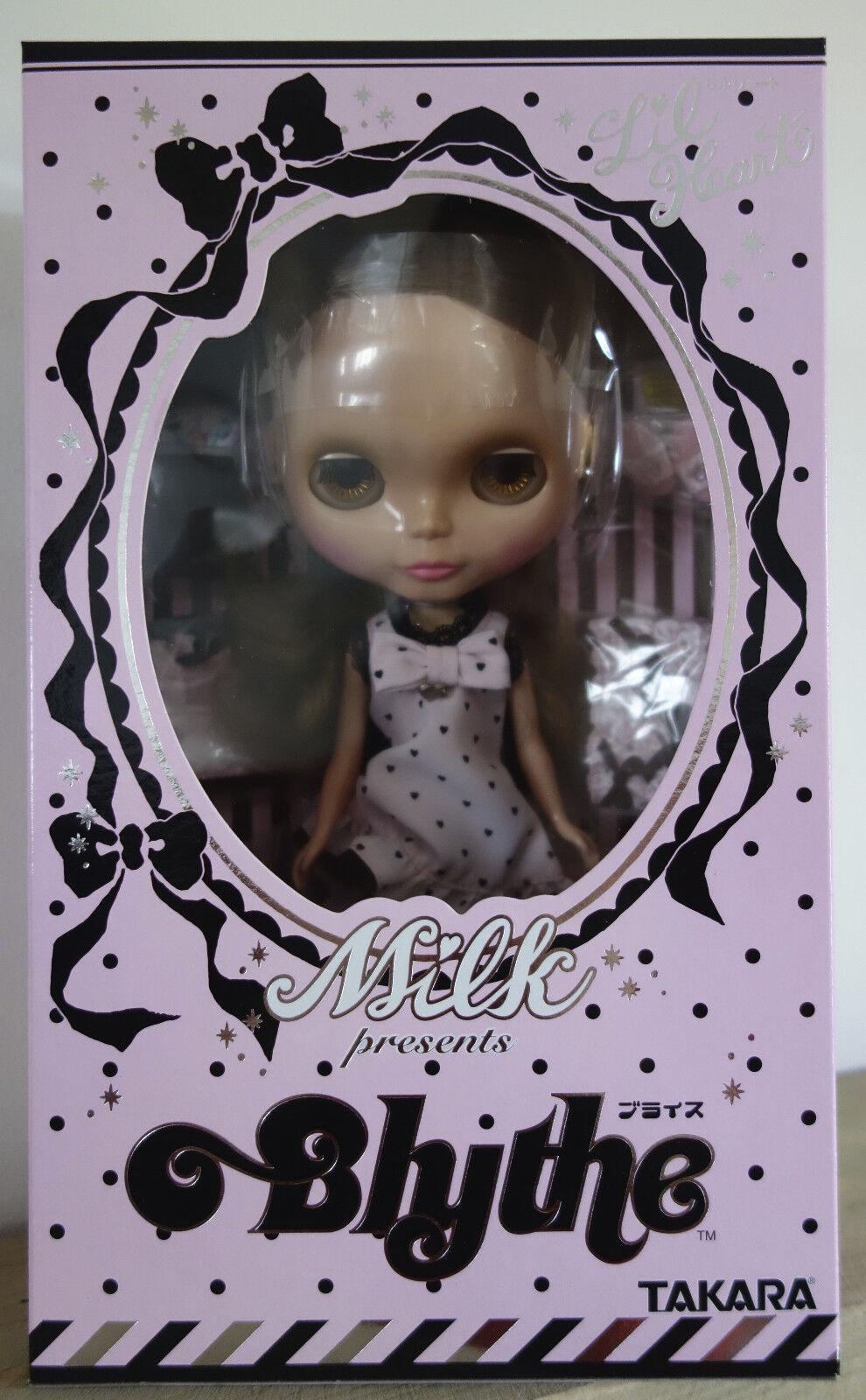 Wow  edición Limitada Lil 'Corazón leche Blythe Doll & Estuche Set  nunca quitado de la Caja