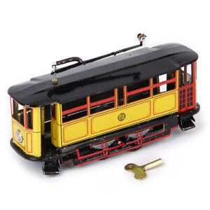 Jouet-Mecanique-Ancien-Metal-Maquette-Train-Collection-Cadeau-Enfant-Colore