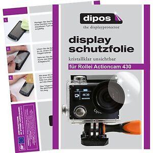 6x-Rollei-Actioncam-430-Pellicola-Protettiva-Protezione-Schermo-Cristallo-dipos