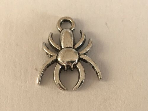Tibetan Alloy Antique Silver Spider Charms Halloween Wicca Arachnid
