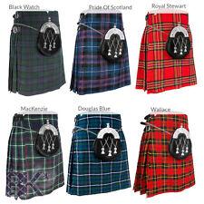 Scottish Mens Kilts 5 Yard Kilts 13oz, Casual Kilt, Various Sizes and Tartans