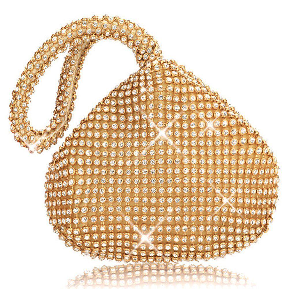 Gold Crystal Clutch Wedding Lady