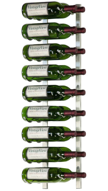 Vintageview Ws32 P 18 Bottle Wall Mounted Wine Rack Plantinum Nickel