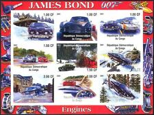 Congo James Bond/Cars/Aston Martin/Transport/Tank/Movies imperf sht (cs) b5927a