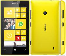 Yellow Original Nokia Lumia 520 8GB Unlocked Windows 8 Smartphone,GPS,5MP,Wifi