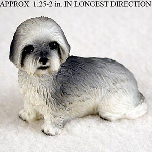 Lhasa Apso Mini Hand Painted Figurine Gray Puppy Cut Ebay