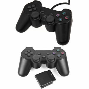 Wired-Wireless-Black-Dual-Shock-Controller-for-PS2-PlayStation-Joypad-Gamepad-UK