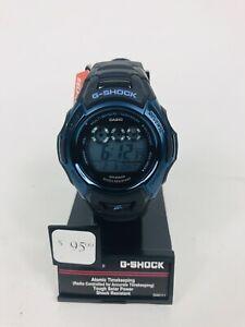 G-Shock Casio Men's Solar Atomic Digital Black & Blue Watch GWM500F-2