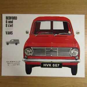 Bedford Vauxhall Motors Ltd 6cwt 8cwt 6 8 Cwt Light Van Uk Brochure 1964 Ebay