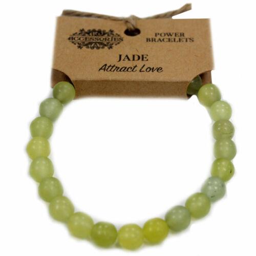 Jade atraer amor Nuevo Poder Real Piedras Preciosas Pulseras