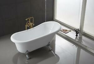 Image Is Loading Ringsted Oval Shaped Acrylic Claw Foot Bath Tub