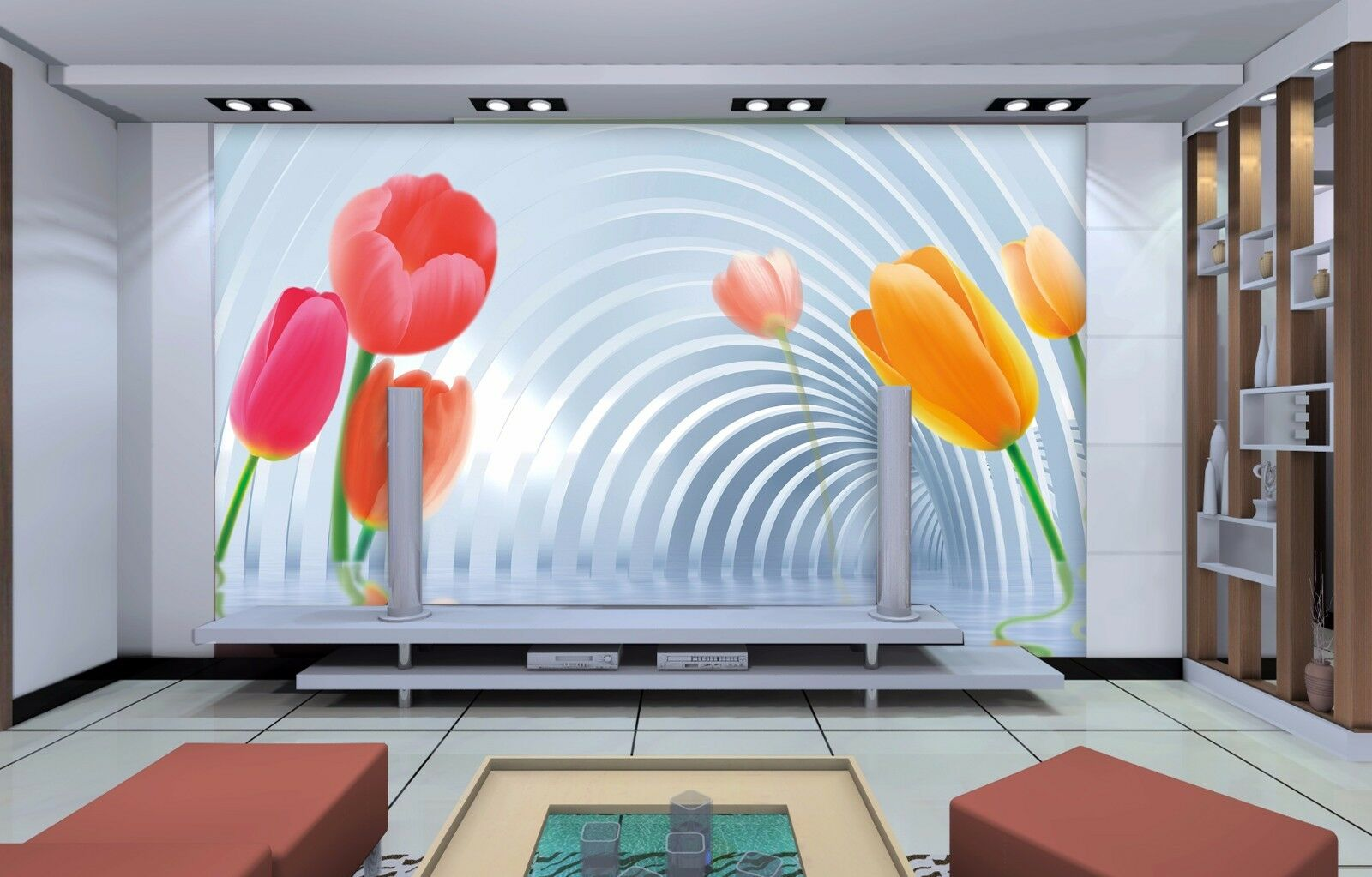 3D Farbe Petals 55 Wallpaper Murals Wall Print Wallpaper Mural AJ WALL AU Kyra