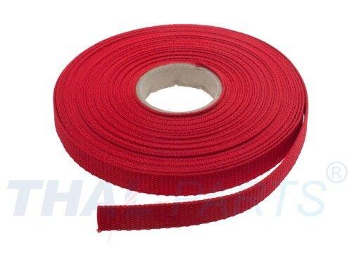 10m Gurtband 10mm Breit 1,6mm stark Rot PP Taschengurt Taschenband ca