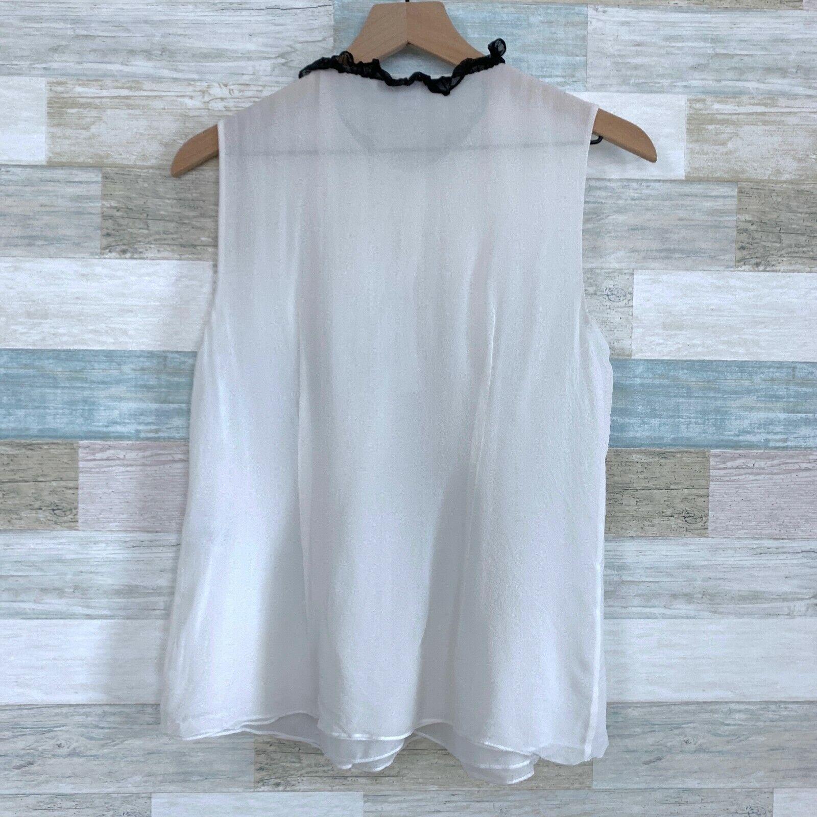 Diane Von Furstenburg Betsy Silk Tuxedo Blouse Bl… - image 4