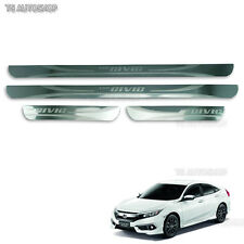 4dr Stainless Scuff Plate Sill Guards For Honda Civic Sedan FB6 2016 2017