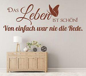 Captivating Das Bild Wird Geladen X1621 Wandtattoo Spruch Das Leben Ist Schoen Von