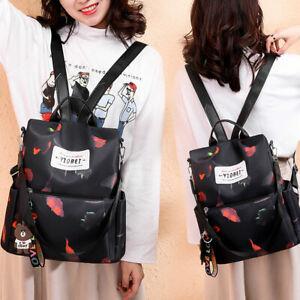 Women-Anti-theft-Travel-Waterproof-Oxford-Cloth-Backpack-Ladies-Shoulder-Bags-UK