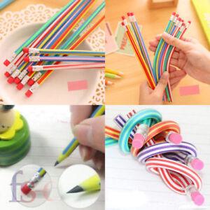 30-x-Soft-Flexible-Bendy-Pencils-Bending-Pencil-Kids-Children-School-Fun-Pencils