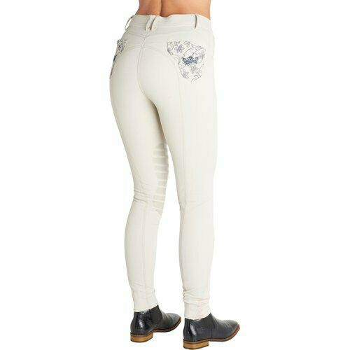 Montar Ellie Crown Competition Breeches - Beige - Silicon Knee - RRP