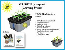Hydroponic Complete System DWC GROW BOX kit, #3-4 H2OToGro