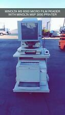 Konica Minolta Ms6000 Microfilm Microfiche Scanner Printer Msp 3000