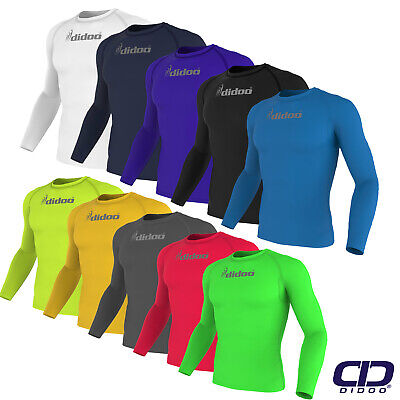 d8d7a5d91 Details about Didoo New Men's Full Sleeve Compression Shirts Running Tops  Training Base Layers