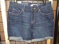 Sonoma - Teen - Boyfriend Shorts - Denim - Size 2 (ac-19-13)