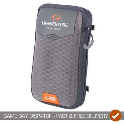Forte Lifeventure Hydrofibre Quick Dry Pocket Campeggio Outdoor Trekking Trek Asciugamano-grigio-