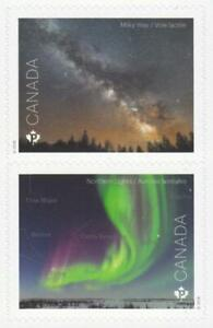 2018-Canada-Post-2-ASTRONOMY-Stamps-Both-From-Booklet-MNH-Nice-Stamps